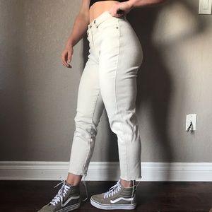 Vintage kick flare high rise trendy pants